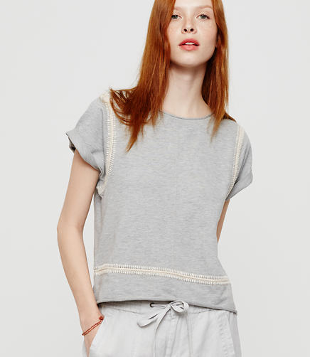 Image of Lou & Grey Crochet Terry Top