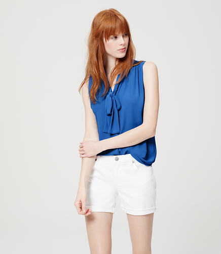 Image of Sleeveless Tie Neck Blouse