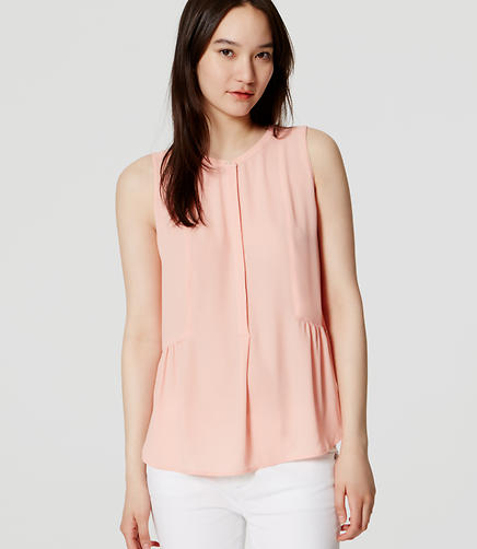 Image of Peplum Henley Shell