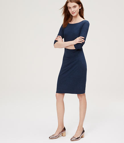 Image of Side Shirred Dress