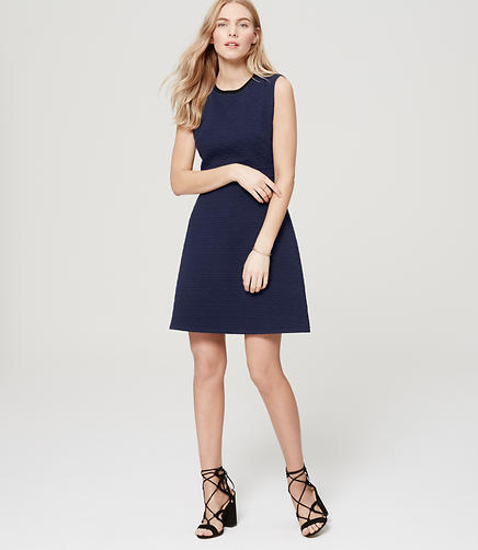 Image of Petite Tulip Quilted Flare Dress