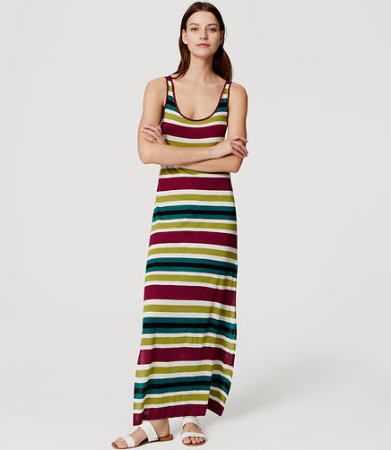 Image of LOFT Beach Resort Striped Maxi Dress