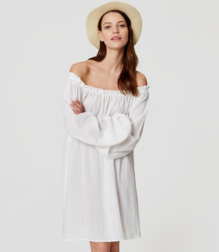 Image of LOFT Beach Off the Shoulder Dress