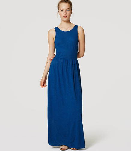 Image of LOFT Beach Tie Back Maxi Dress