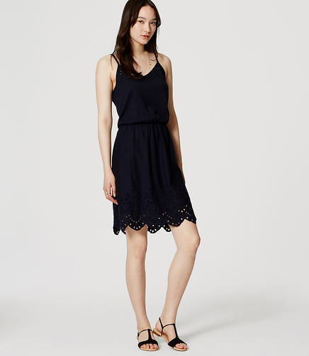 Image of Eyelet Hem Dress
