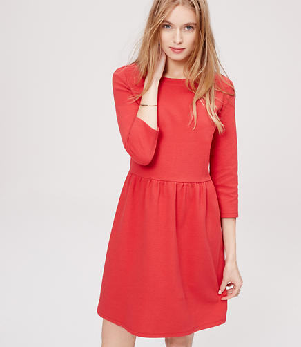 Image of 3/4 Sleeve Flare Dress