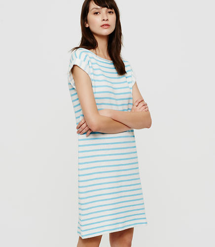 Image of Lou & Grey Striped Summer Sweatshirt Dress