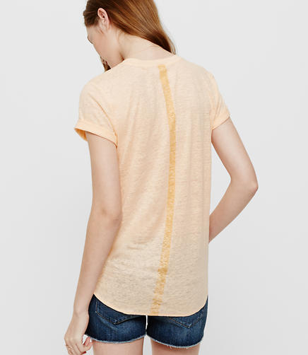 Image of Lou & Grey Lineback V-Neck Linen Tee