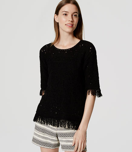 Image of Fringed Summer Sweater