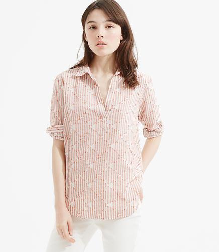 Image of Lou & Grey Clip Dot Pop-On Shirt