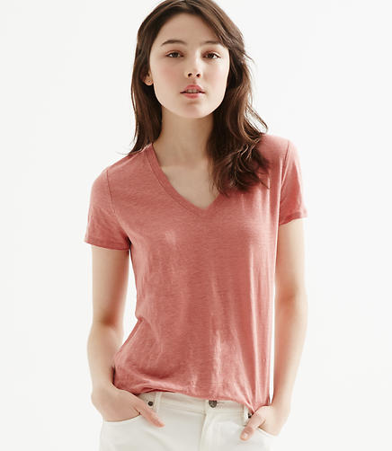 Image of Lou & Grey V-Neck Linen Tee
