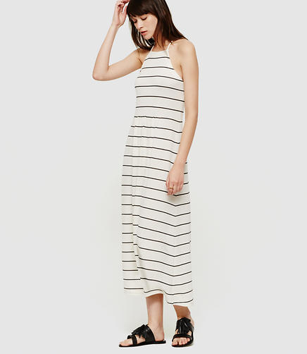 Image of Lou & Grey Stripe Cutaway Midi Dress