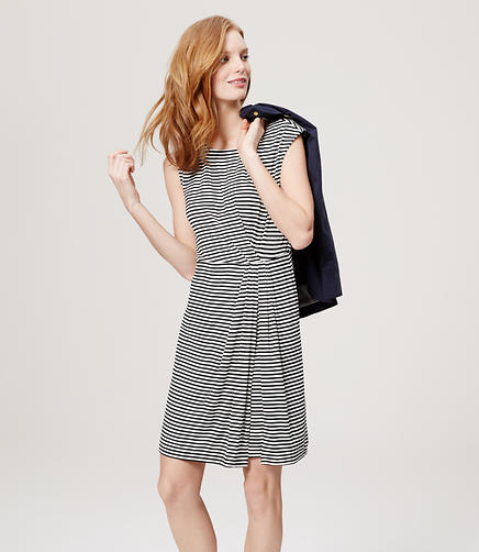 Image of Stripe Gathered Dress