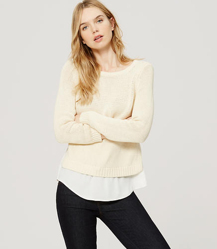 Image of Petite Chunky Two-In-One Sweater