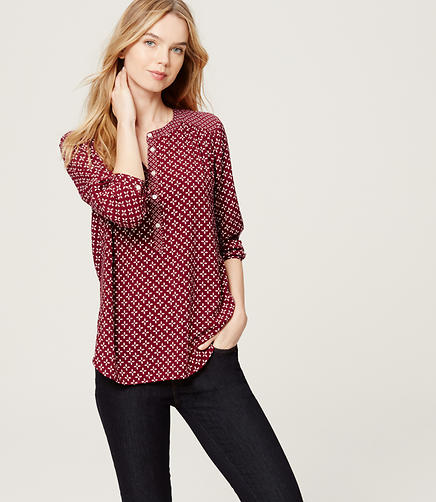 Image of Shirred Utility Blouse