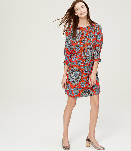 Image of Queen Paisley Shirtdress