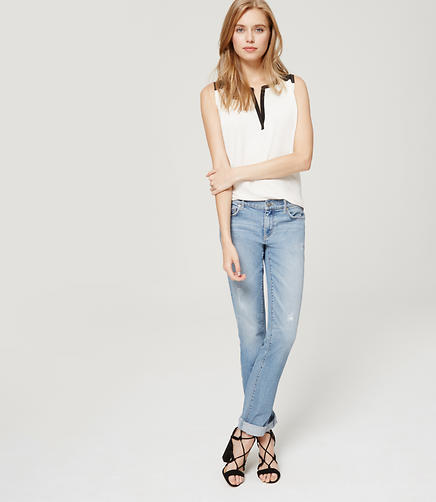 Image of Modern Straight Leg Jeans in Light Indigo Wash
