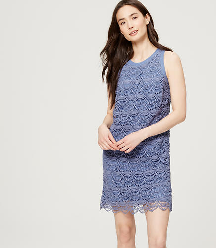 Image of Scallop Lace Dress