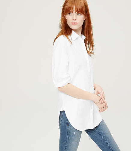 Image of Crisp Tunic Softened Shirt