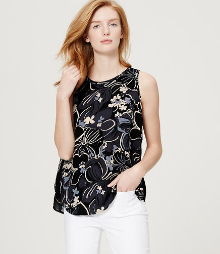 Image of Floral Piped Yoke Top