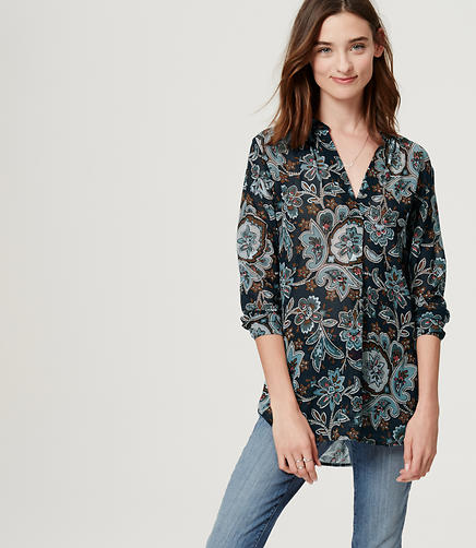 Image of Split Neck Poet Blouse
