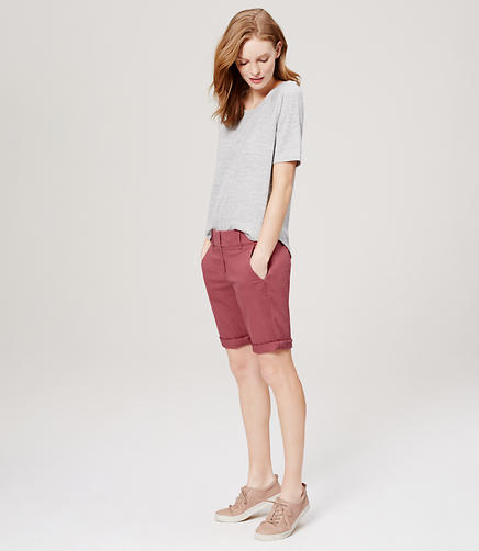 Image of Petite Bermuda Roll Shorts