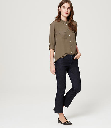 Image of Modern Kick Crop Jeans in Dark Rinse Wash