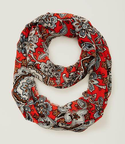 Image of Queen Paisley Infinity Scarf