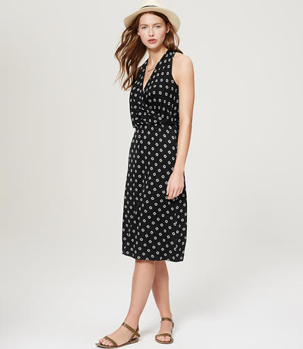 Image of LOFT Beach Blossom Wrap Dress