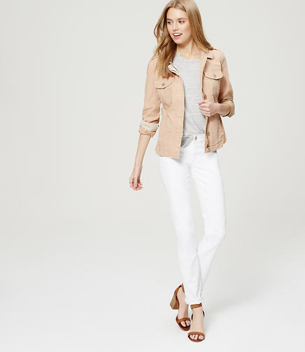 Image of Petite Modern Straight Leg Jeans in White