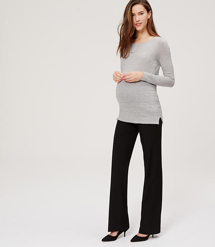 Image of Maternity LOFT Trousers with Roll Panel