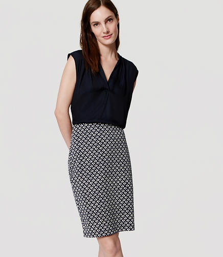 Image of Mosaic Pencil Skirt