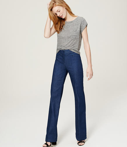 Image of Refined Denim Trousers