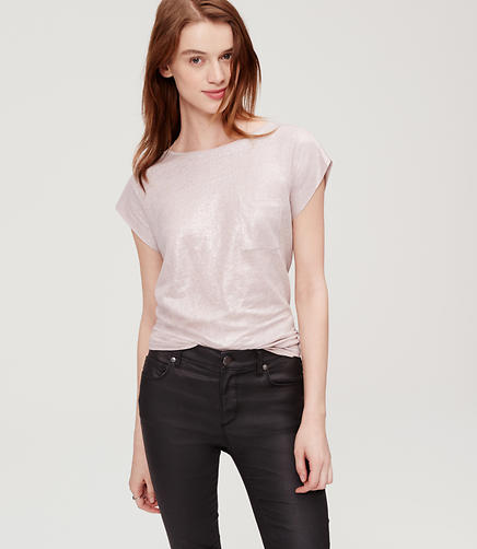 Image of Shimmery Linen Pocket Tee