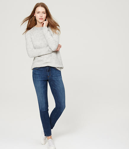 Image of Curvy Skinny Jeans in Mid Indigo Wash