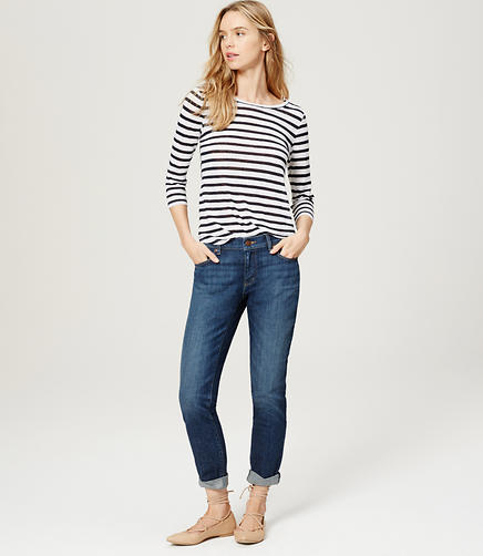 Image of Petite Relaxed Skinny Jeans in Pioneer Blue Wash