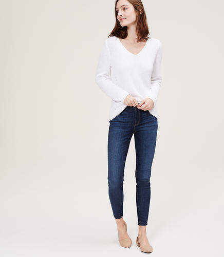 Image of Petite Denim Leggings in Authentic Indigo Wash