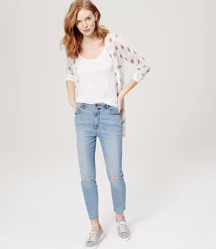 Image of Tall Modern High Waist Skinny Ankle Jeans in Light Indigo Wash