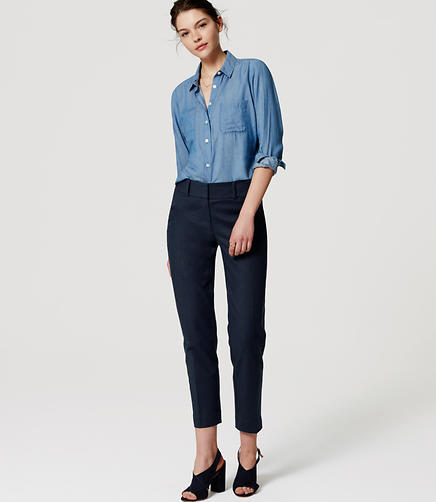 Image of Doubleweave Riviera Cropped Pants in Julie Fit