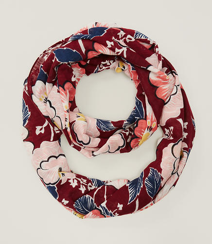 Image of Blush Floral Infinity Scarf