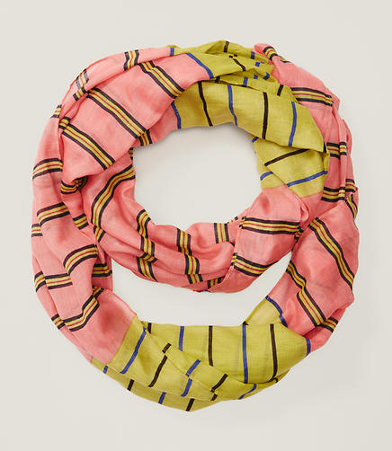 Image of Sunrise Stripe Infinity Scarf