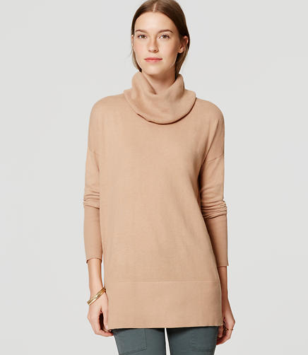 Image of Cowl Neck Tunic Sweater