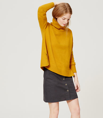 Image of Button Front Utility Skirt