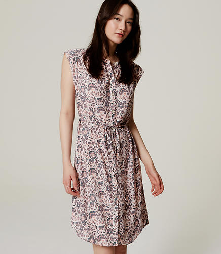 Image of Floral Flutter Shirtdress