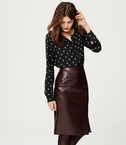 Image of Dizzy Dot Ladder Stitch Blouse