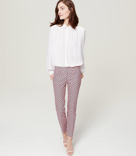 Image of Petite Geo Riviera Cropped Pants in Marisa Fit