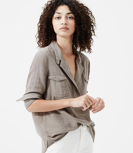 Image of Petite Lou & Grey Chambray Palette Shirt