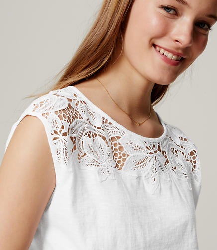 Image of Lace Yoke Tee