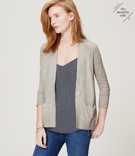 Image of One Button Cardigan