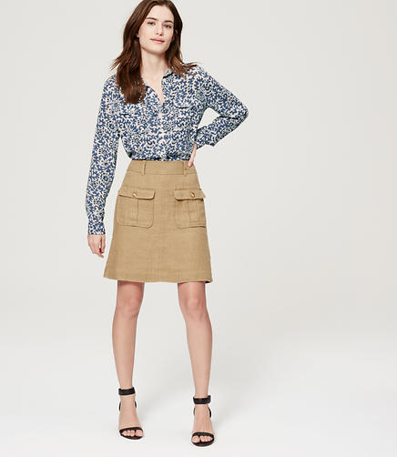 Image of Floral Vine Utility Blouse